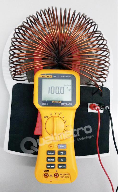 Calibração de alicate amperímetro