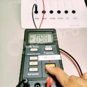 Calibração de megômetro